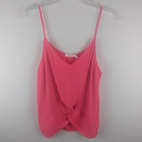 Lush Tops - NWT Lush Gathered Pink Spaghetti Strap Tank Top